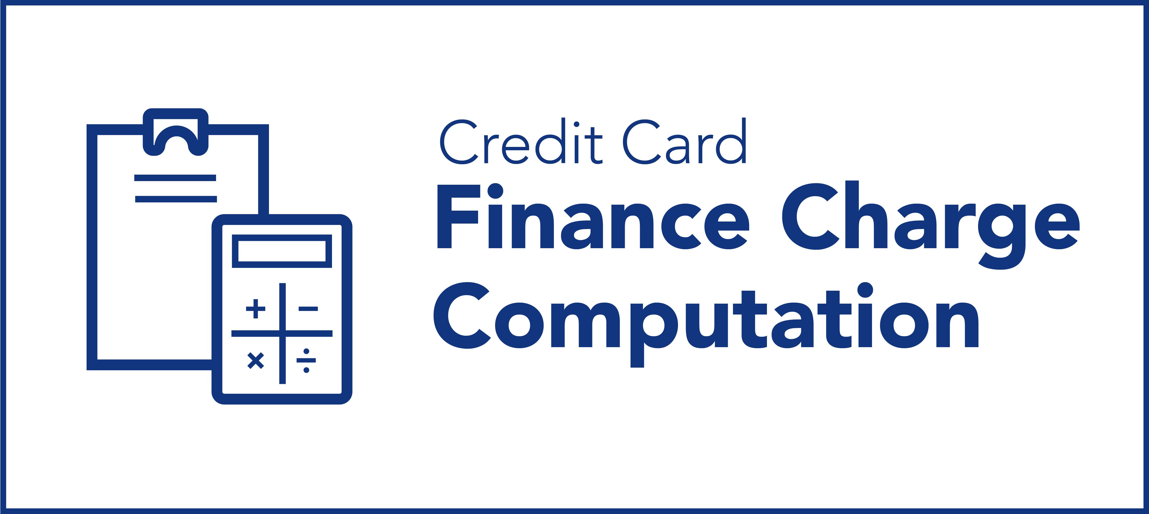 Finance Charge Computation