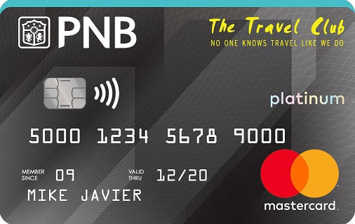 The Travel Club Platinum MasterCard!