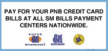 PNB MasterCard Bills accepted in SM Nationwide
